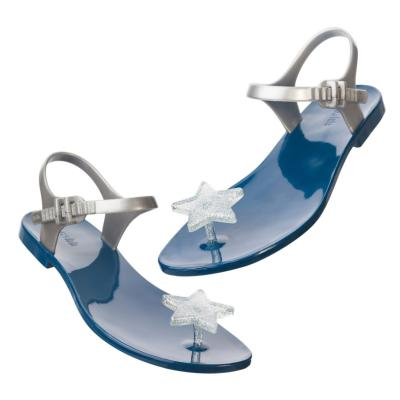Sandales Kids Star Bleu Marine et Transparent Pailleté