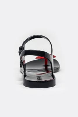 Sandales noires et bouche or pailletée   Shoela